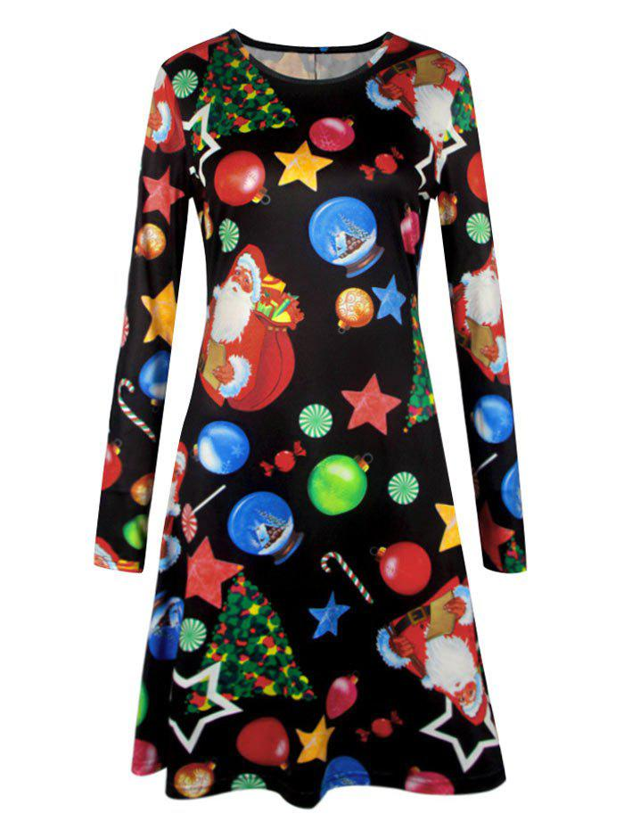 Plus Size Christmas Candy Printed Dress plus size christmas candy printed dress