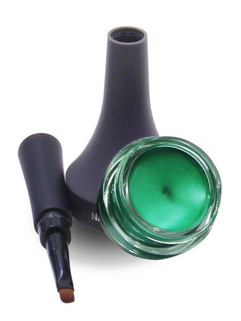 Long Lasting Smudge-Proof Gel Eyeliner With Brush - GREEN