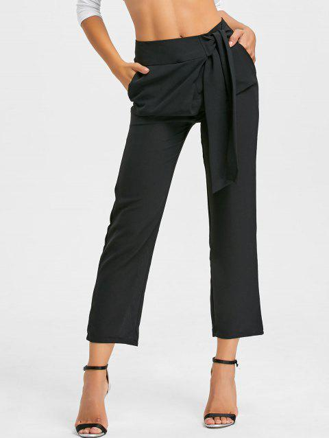 High Wasited Tie Up Pants - BLACK L