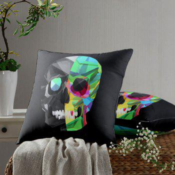Novelty Skull Pattern Square Pillowcase - BLACK W26 INCH * L26 INCH