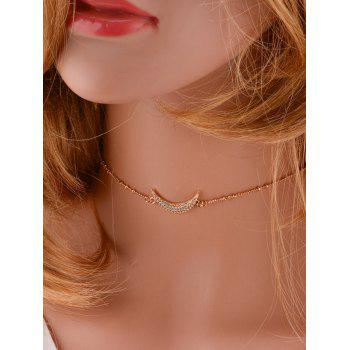 Moon Chain Chain Design Choker Collier - Or
