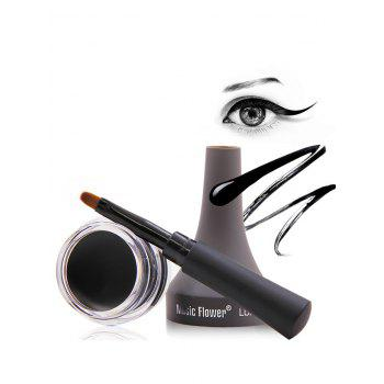 Long Lasting Smudge-Proof Gel Eyeliner With Brush - BLACK BLACK