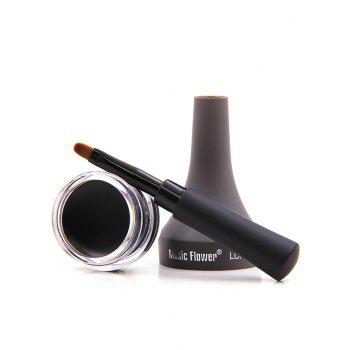 Long Lasting Smudge-Proof Gel Eyeliner With Brush - BLACK