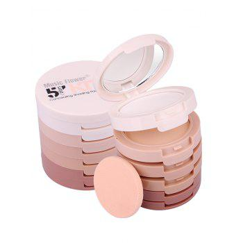 5 Colors Layered Round Concealing Shading Powder Kit -  PINK
