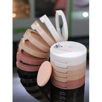 5 Colors Layered Round Concealing Shading Powder Kit - PINK PINK