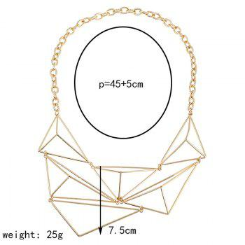 Triangle Shape Geometric Design Hollow Necklace -  GOLDEN