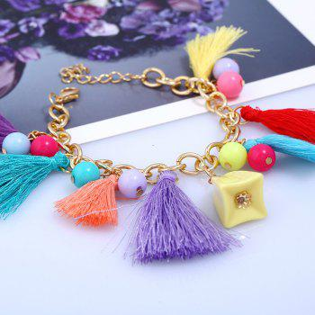 Beaded Design Bohemia Colorful Tassel Bracelet - multicolorcolore