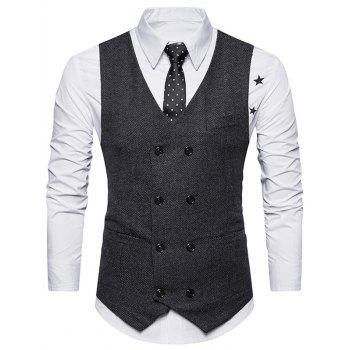 Belt Design Double Breasted Waistcoat