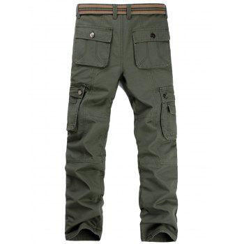 Casual Zip Fly Flap Pockets Cargo Pants - 32 32