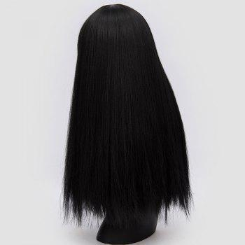 Long Neat Bang Fluffy Straight Lolita Cosplay Synthetic Wig - BLACK