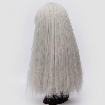 Perruque synthétique Lolita Cosplay Long Neat Bang Fluffy Straight - Gel