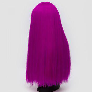 Perruque synthétique Lolita Cosplay Long Neat Bang Fluffy Straight - Pourpre