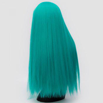 Long Neat Bang Fluffy Straight Lolita Cosplay Synthetic Wig - GREEN