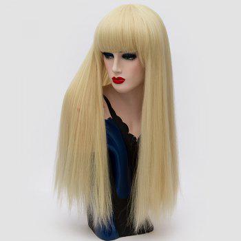 Long Neat Bang Fluffy Straight Lolita Cosplay Synthetic Wig - SUNFLOWER