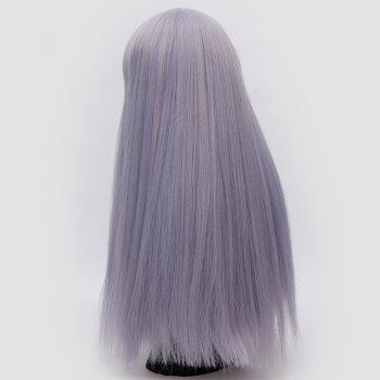 Long Neat Bang Fluffy Straight Lolita Cosplay Synthetic Wig -  BLUE VIOLET