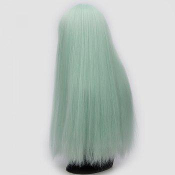 Long Neat Bang Fluffy Straight Lolita Cosplay Synthetic Wig - NEON GREEN