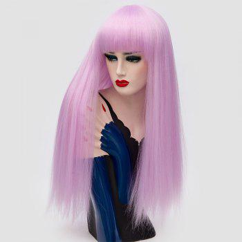 Long Neat Bang Fluffy Straight Lolita Cosplay Synthetic Wig - JUBILEE