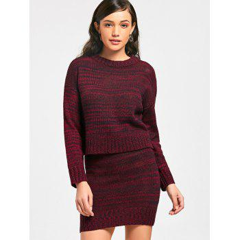 High Neck Sweater with Knitted Skirt - M M