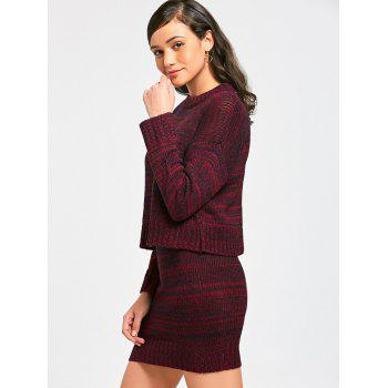High Neck Sweater with Knitted Skirt - 2XL 2XL
