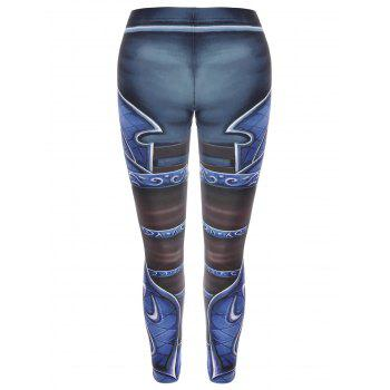 High Waisted Printed Skinny Leggings - ONE SIZE ONE SIZE