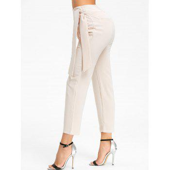 High Wasted Tie Up Pants - RAL Beige L