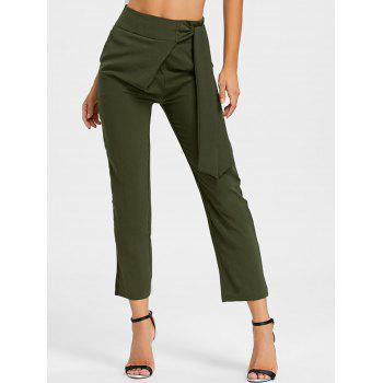 High Wasited Tie Up Pants - ARMY GREEN S