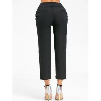 High Wasted Tie Up Pants - Noir M