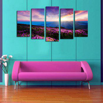 Colorful Sunrise Lavender Print Frameless Painting - 1PC:12*31,2PCS:12*16,2PCS:12*24 INCH( NO FRAME ) 1PC:12*31,2PCS:12*16,2PCS:12*24 INCH( NO FRAME )