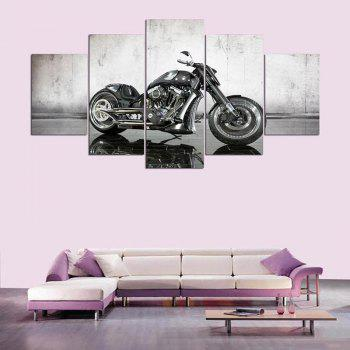 Wall Art Mechanical Motor Pattern Canvas  Paintings - GRAY 1PC:12*31,2PCS:12*16,2PCS:12*24 INCH( NO FRAME )
