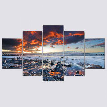 Sunset Seascape Print Split Wall Art Canvas Paintings - COLORFUL COLORFUL