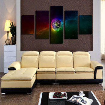 Galaxy Earth Printed Unframed Canvas Paintings - COLORFUL COLORFUL
