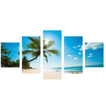 Coconut Tree Printed Unframed Canvas Paintings - 1PC:12*31,2PCS:12*16,2PCS:12*24 INCH( NO FRAME ) 1PC:12*31,2PCS:12*16,2PCS:12*24 INCH( NO FRAME )