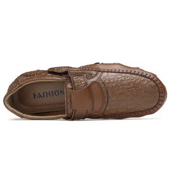Crocodie Embossed Stitched Casual Shoes - BROWN 43
