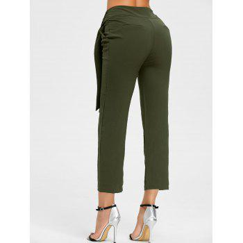 High Wasited Tie Up Pants - ARMY GREEN ARMY GREEN