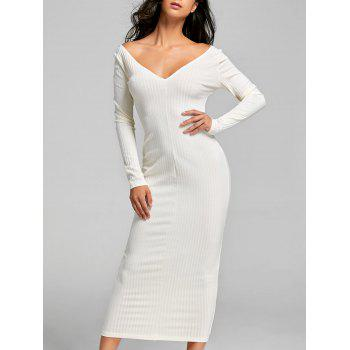 Ribbed Maxi Bodycon Dress