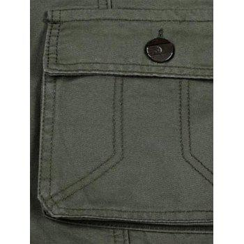 Casual Zip Fly Flap Pockets Cargo Pants - ARMY GREEN ARMY GREEN