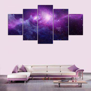 Star Sky Pattern Canvas Wall Art Painting - COLORFUL 1PC:8*20,2PCS:8*12,2PCS:8*16 INCH( NO FRAME )