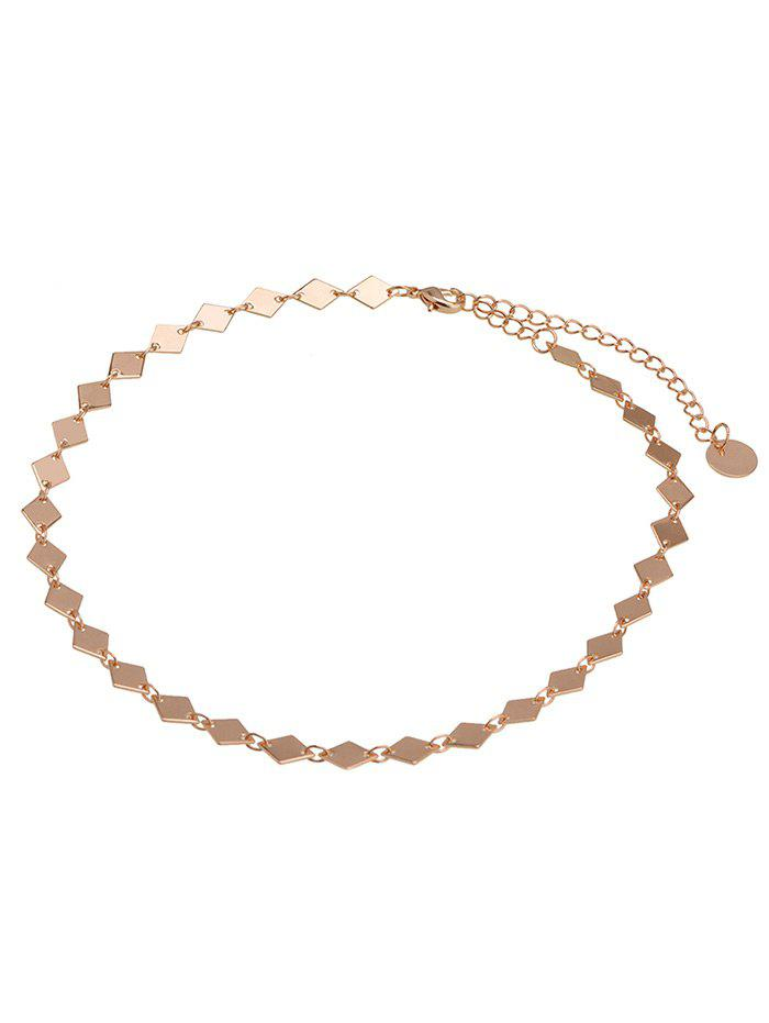 Geometric Design Choker Necklace - GOLDEN