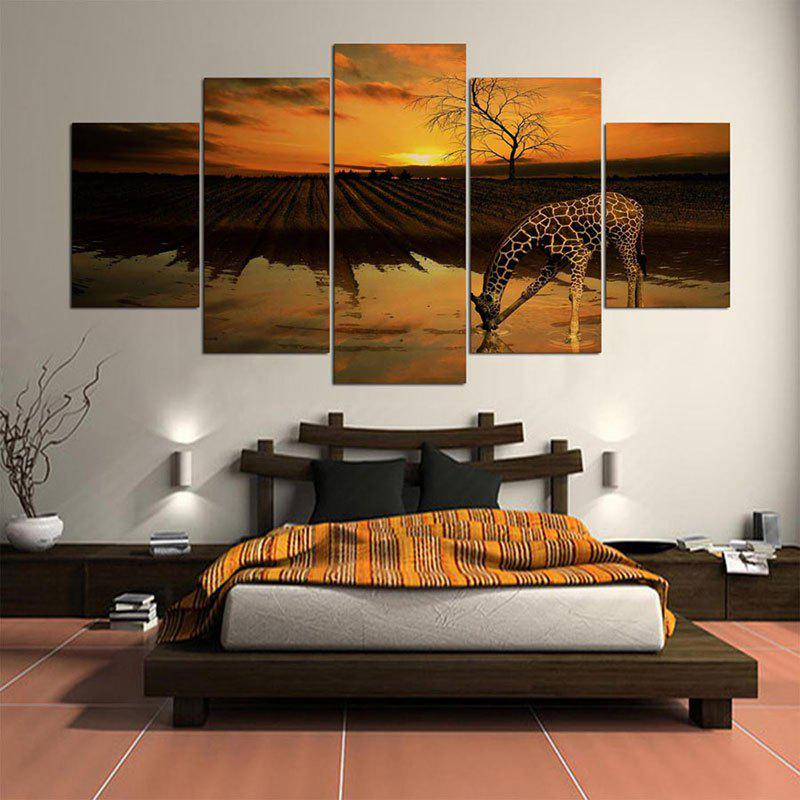 Wall Art Giraffe Field Pattern Unframed Split Canvas Paintings leopard pattern wall art split canvas paintings
