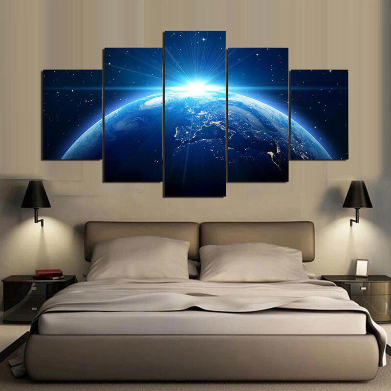 Wall Art Universal Earth Printed Canvas Paintings special hard concrete nails wall paintings nail