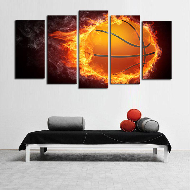 Fire Football Pattern Unframed Canvas Paintings цена 2017