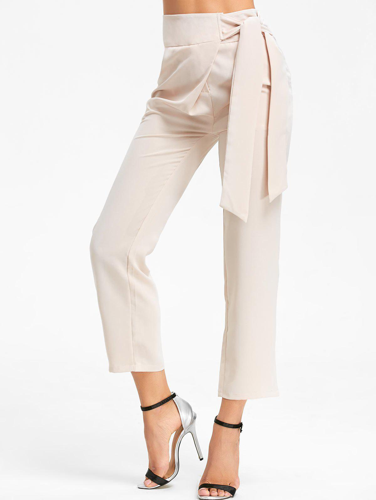 High Wasted Tie Up Pants - RAL Beige XL