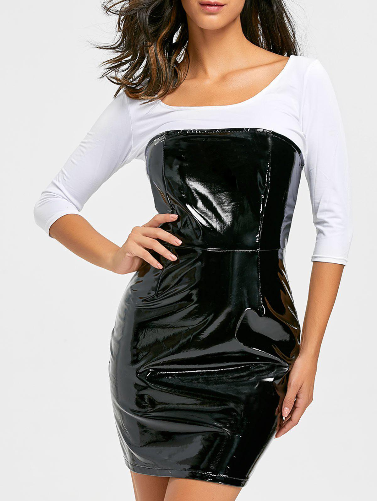 Mini-robe Bandeau en Latex - Noir L