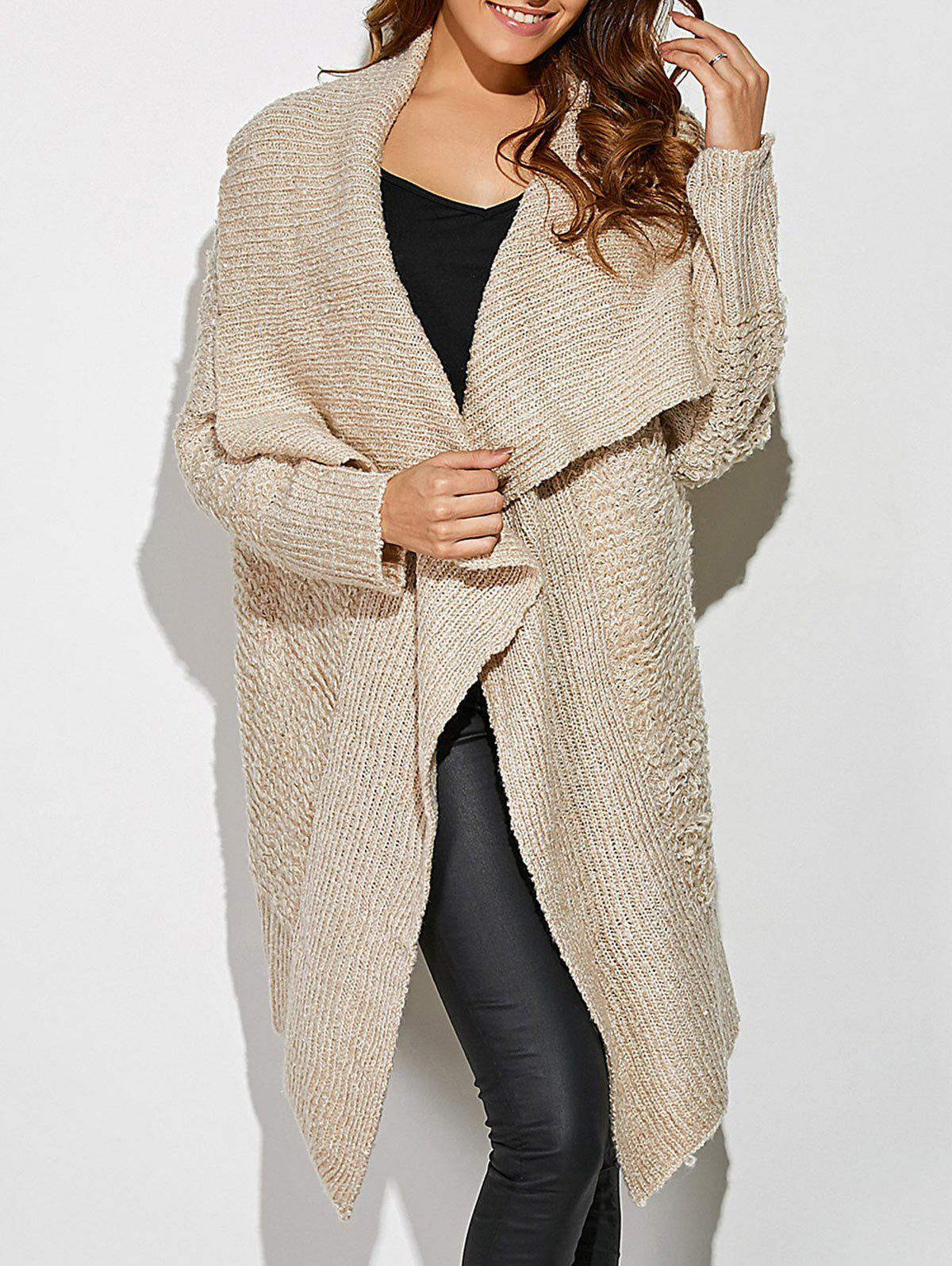 Asymmetrical Open Front Knit Cardigan inc new beige women s small s marled knit open front cardigan sweater $89 201