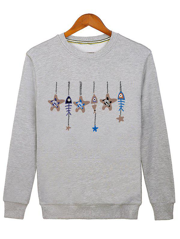 The Wind-bell Print Crew Neck Sweatshirt redmond rhp m02