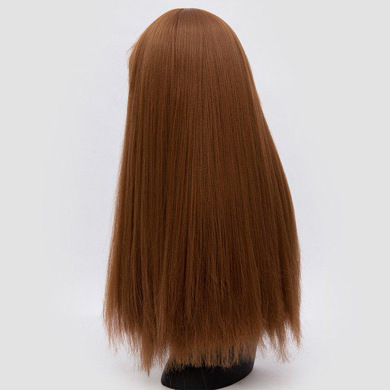 Perruque synthétique Lolita Cosplay Long Neat Bang Fluffy Straight - BRUN