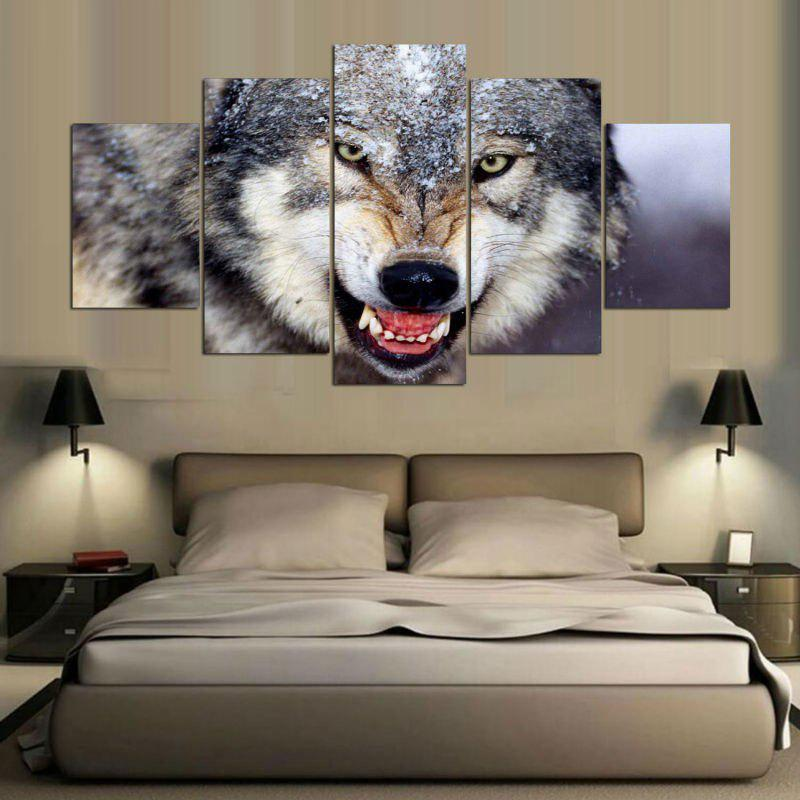 Wall Art Wolf Pattern Unframed Canvas Paintings wall art wolf pattern unframed canvas paintings