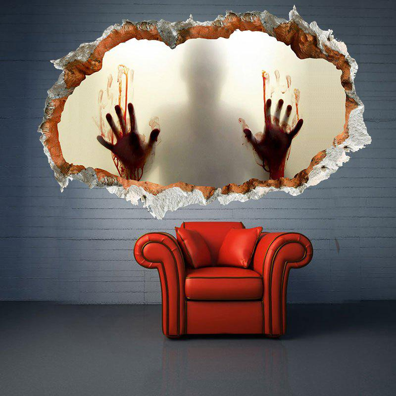 3D Creative Halloween Zombie Waterproof Wall Decal - LIMEADE