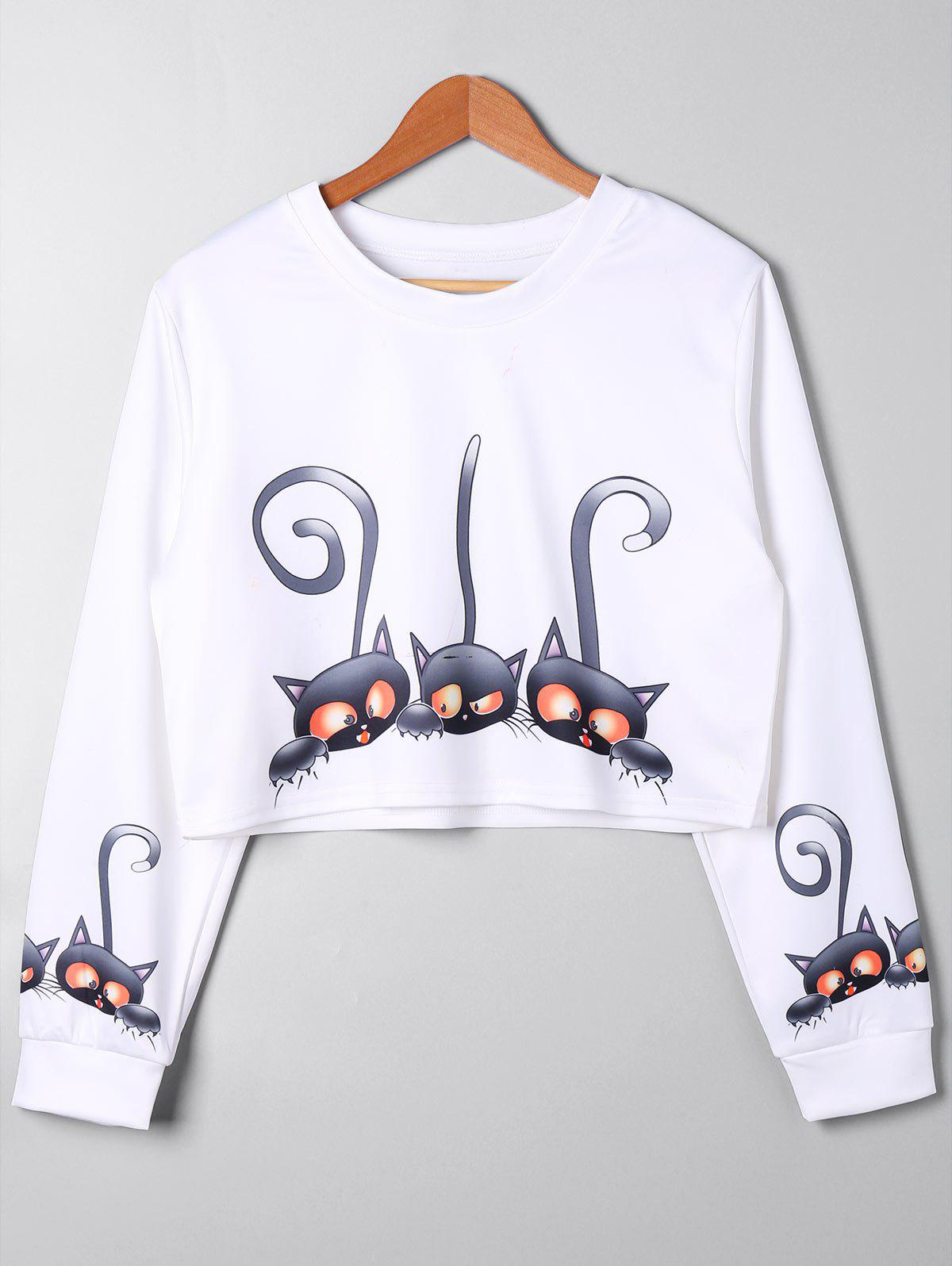 Plus Size Cartoon Print Crop Sweatshirt plus size letter print hooded sweatshirt dress