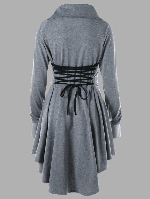 Robe Patineuse Grande Taille à Lacets - Gris 3XL